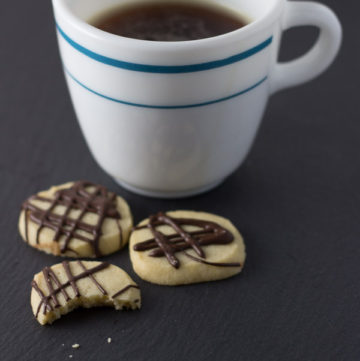 Cardamom Shortbread with Dark Chocolate Drizzle | Ginger & Toasted Sesame