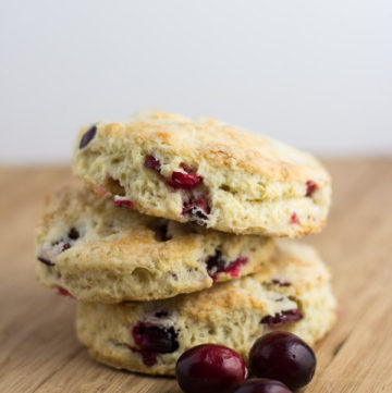 Cranberry Lime Scones | Ginger & Toasted Sesame