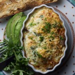 Baked Eggs with Soy Sauce Mushrooms