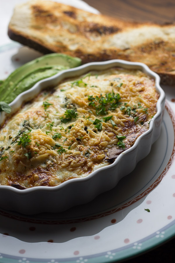 Baked Eggs with Soy Sauce Mushrooms   Ginger & Toasted Sesame