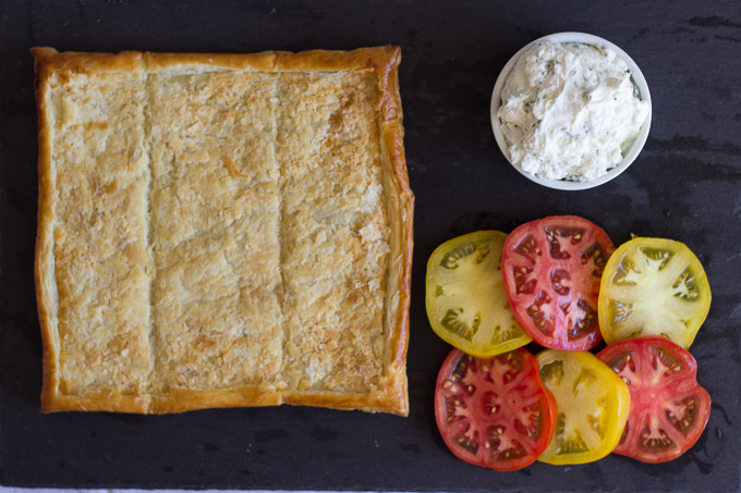 Fresh Tomato and Goat Cheese Mousse Tart | Ginger & Toasted Sesame