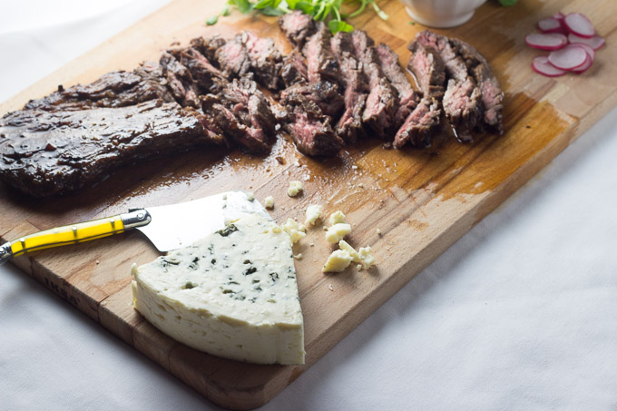 Balsamic Skirt Steak Tacos with Blue Cheese and Chimichurri-2