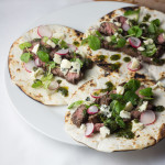 Balsamic Skirt Steak Tacos with Blue Cheese and Chimichurri
