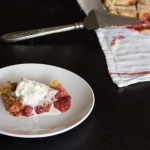 Strawberry Rhubarb Pandowdy + Sharp Microwave Giveaway