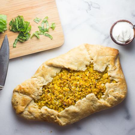 Tomato and Corn Galette-4