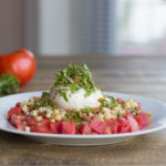 Tomato, Charred Corn, and Burrata Salad