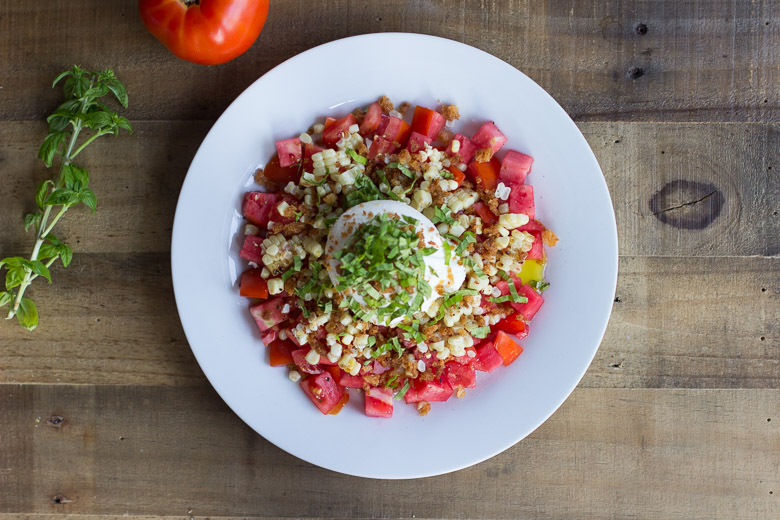 Tomato, Charred Corn and Burrata Salad-12