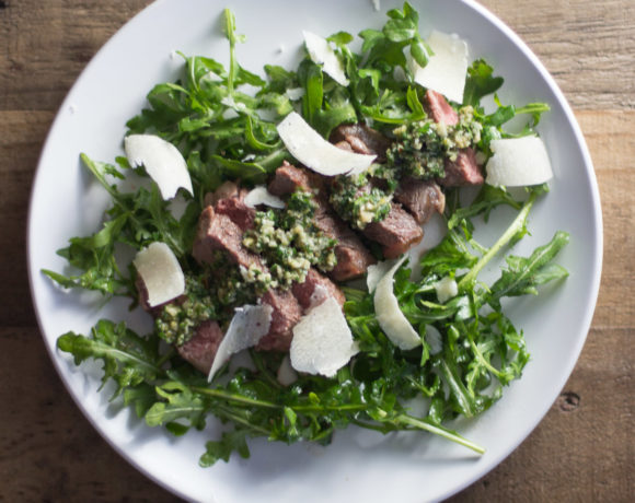 Steak Salad with Salsa Verde